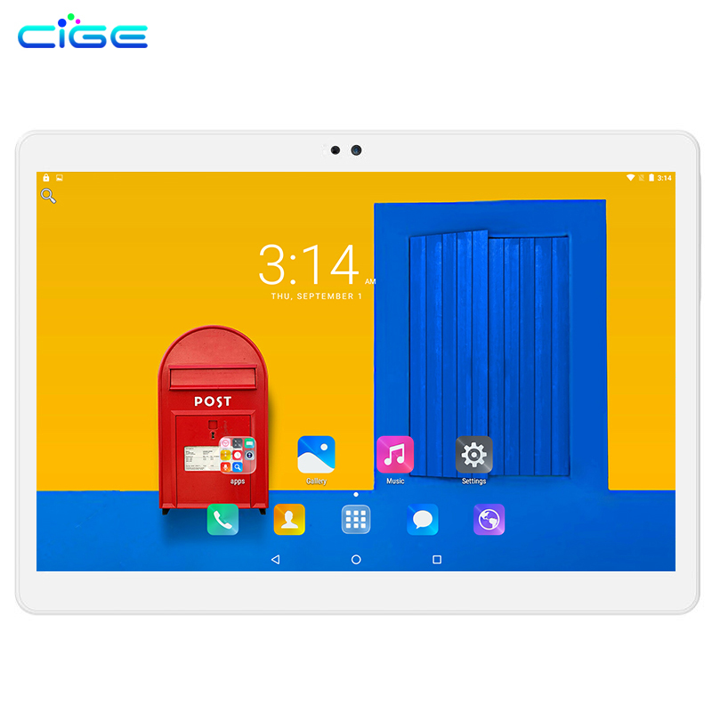 CIGE Free shipping Android 7.0 Quad Core 10.1 inch Tablet PC 2GB RAM 16GB ROM 5MP WIFI A-GPS GPS IPS 1280*800 2GB+16GB