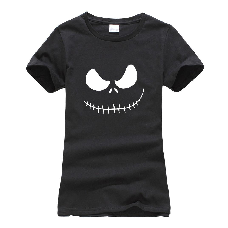 Hipster brand clothes fashion harajuku hip-hop top Jack Skellington Evil Smile Print Women T-shirt 2018 camiseta tee Shirt Femme