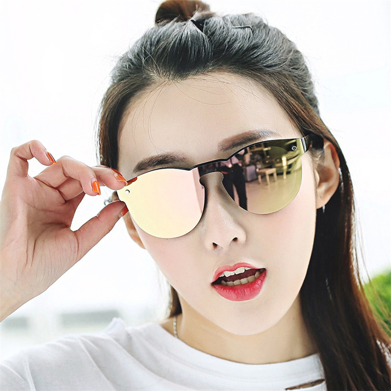 bea73fbee3 New One Piece Lens Sunglasses Women Transparent Plastic Glasses Men Style  Sun Glasses Clear Candy Color Brand Designer
