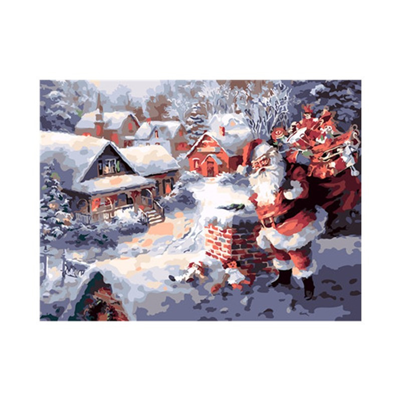 Merry Christmas Pictures By Number On Canvas DIY HandPainted Oil Painting Coloring By Numbers Abstract good quality Poster Gift