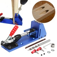 New Woodworking Guide Carpenter Kit System Inclined Hole Drill Tools Clamp Base Drill Bit Kit System