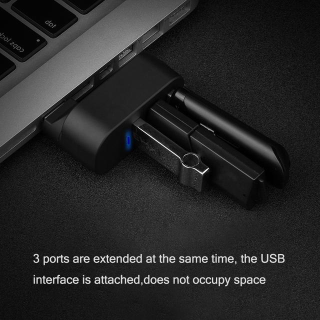 Mini USB HUB 3 Port USB 2.0 Splitter Straight Insertion Rotate Portable Slim HUB for iMac Desktop Laptop Accessories OTG Adapter