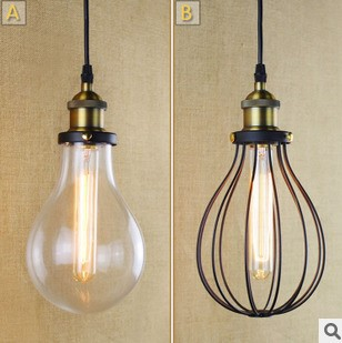 America Loft Style Edison Vintage Pendant Lamp Lights With Glass Lampshade Industrial Lamps ,Lamparas Colgantes retro loft industrial vintage led pendant lights fxitures with glass lampshade dinning room lamp lamparas colgantes