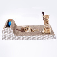 Pet Dog Cat Kitten Corrugated Scratch Board Pad Scratcher Bed Mat Claws Care Interactive Toy For