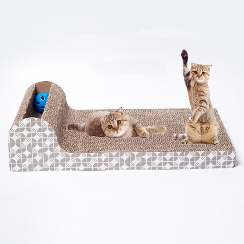 Pet Chien Chat Chaton Ondulé chat Scratch Bord Pad Scratcher lit Tapis Griffes Soins Jouet Interactif Pour Pet Formation Chat jouets
