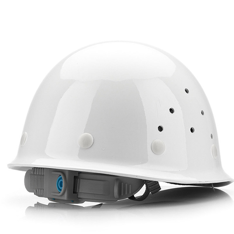 Image 2 - FRP Safety Helmet Construction Protective Helmets Anti smashing Work Cap Breathable Labor Engineering impact resistance Hard Hat-in Safety Helmet from Security & Protection