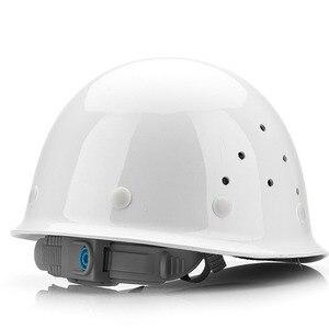 Image 2 - Frp安全ヘルメット建設保護ヘルメット抗スマッシングワークキャップ通気性労働エンジニアリング耐衝撃性ハード帽子