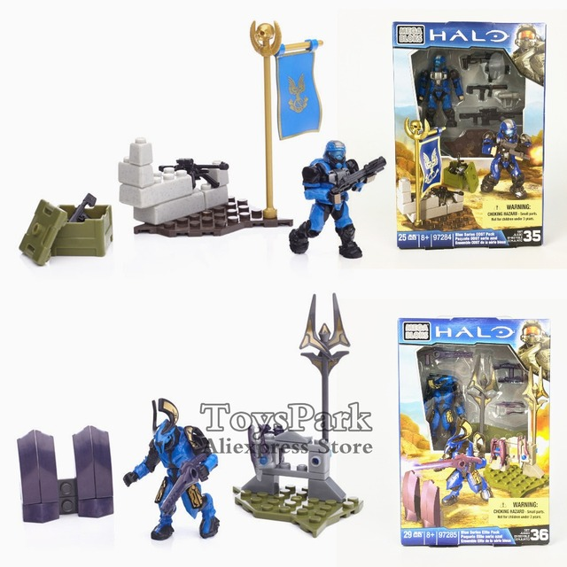 US $13 99  HALO Blue Series ODST Elite Pack Action Figure MINI Building  Toys MEGA BLOKS Set Kit Model Collectible NEW IN BOX-in Action & Toy  Figures