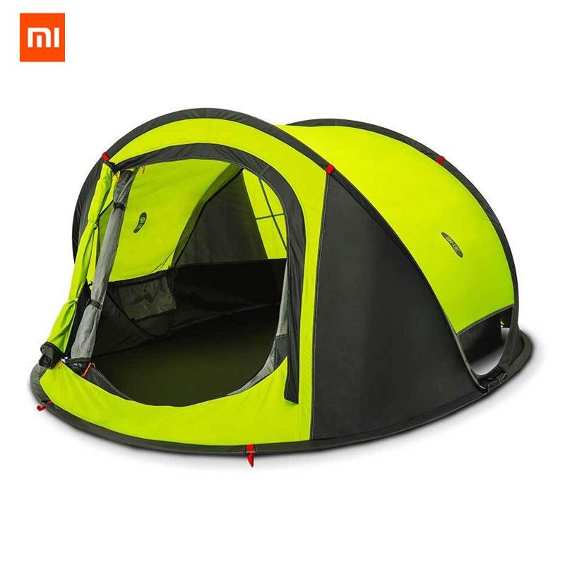 Оригинальный Xiaomi Mijia zaofeng 3 4 человека Автоматическая кемпинговая палатка наружная водостойкая двухслойная навес солнцезащитный козырек быстрая установка купить на AliExpress