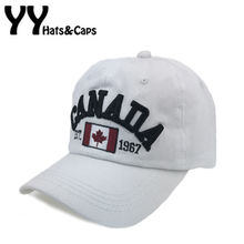 Cotton Gorras Canada Baseball Cap Flag Of Canada Hat Snapback Adjuatable Mens Leisure Hat Casquette Hats Snapback Hat YY17179(China)
