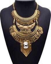 Оптовая продажа 2015 XG304 старинные ожерелья и кулоны мода монеты кисточкой себе ожерелье чрезвычайно повторно стиль металлические