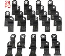 28 pcs saw blades for oscillating multi tools as FEIN multimaster,Dremel power tool,best for cutting wood metal,free shipping