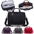 High quality 14.6 15.6 inch laptop bag nylon Design red  purple grey purple notebook handbag two layer shoulder bag business