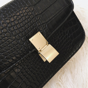 Image 4 - High quality designer satchels brand pu leather purses and handbags ladies chain clutch tofu bag messenger tote Alligator flap