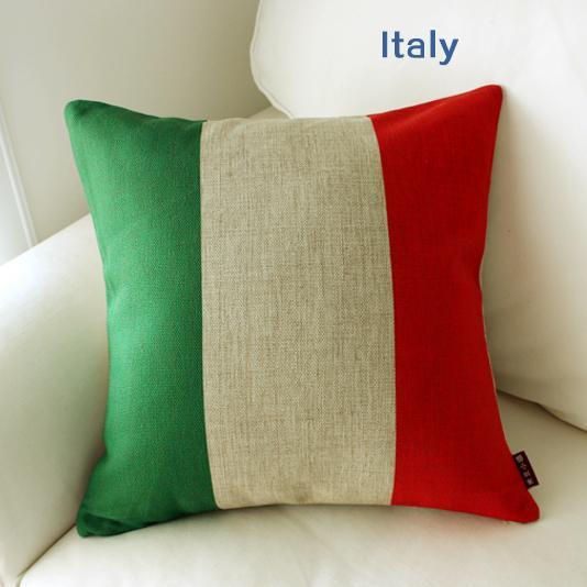 <font><b>Italian</b></font> Flag pillow case, Italy pillowcase, simple logo Flag of Italy throw pillow case pillow cover wholesale