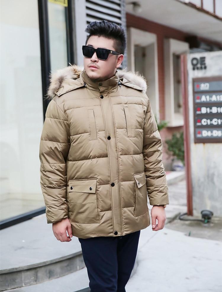 Plus oversize mens winter clothing thick warm parka duck down coat jacket khaki blue green 3xl 4xl 5xl 6xl 7xl 8xl 9xl 10xl