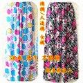 Tela de algodón artificial quincuagenario pantalones de pijama en casa fresca transpirable más tamaño más los pantalones 4