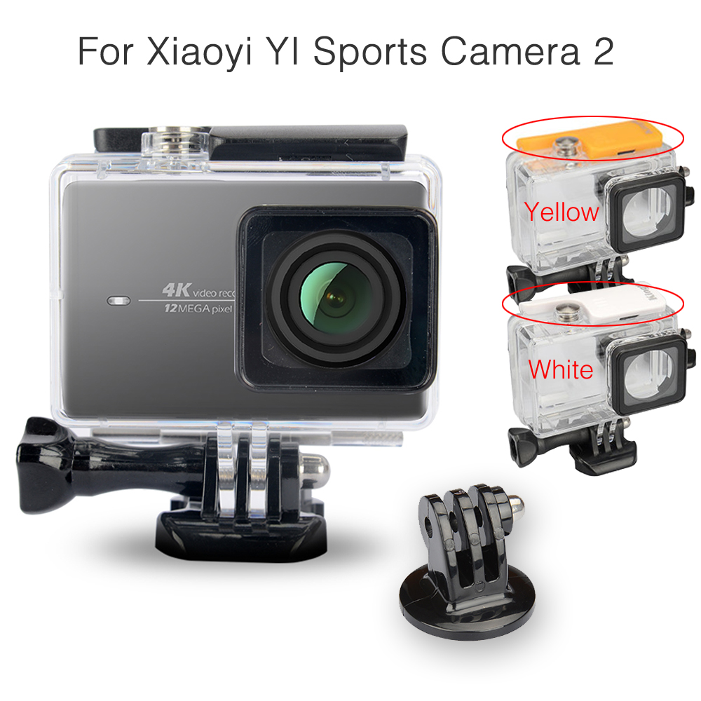 Image 2 - Kingma Waterproof Case+Frame+Screen Protector Film+ Silicone Case+Lens Cover For Xiaomi yi 4K Action Camera 2 II Accessories Kit-in Sports Camcorder Cases from Consumer Electronics