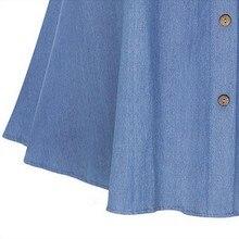 Retro High Waist Denim Skirts Loose Solid Thin Jean Faldas Mujer Fashion Single Breasted Jupe Cozy Summer 2017 Women Skirts