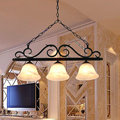 European chandeliers bedroom living room dining hanging lighting fixtures wrought iron black art retro chandelier e27