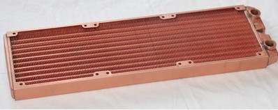 Fast Free Ship 360mm Full Red Copper Water Cooled Row Heat Exchanger Koolance Liquid-cooled Computer Cooling Radiators