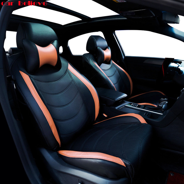 Car Believe Auto automobiles leather seat cover For Nissan X-trail t31 T32 Tiida Juke Teana Qashqai J10 murano car accessories