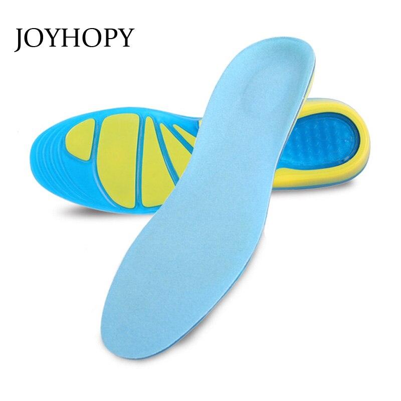 JOYHOPY Silicone + Velvet Thickening Shock Pad Men & Women Spring Summer Running Anti-skid Breathable Massage Insoles SC014