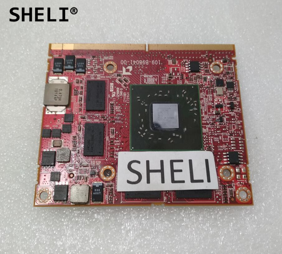 SHELI For DELL M15x M17X 109-B98041-00 6K2MV 06K2MV HD5730M HD 5730M 216-0772003 1GB VGA Graphics Video card vg 86m06 006 gpu for acer aspire 6530g notebook pc graphics card ati hd3650 video card