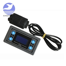 Temperature-Humidity-Control-Thermometer Hygrometer-Controller 12V LED Relay Module Digital-Display