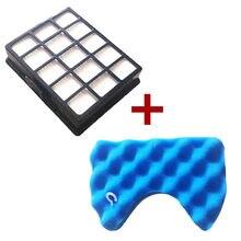 Kit de filtres en éponge bleue, 1 * filtre Hepa et 1 jeu de filtres pour aspirateur Samsung SC6520 SC6530/40/50/60/70/80/90 SC68