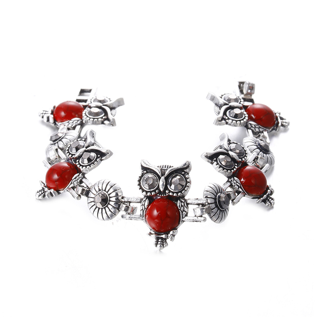 Silver Plated Vintage Owl set 3