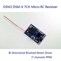 2.4Ghz 7CH DSM2 DSM X RC Micro Receiver with PPM Output 7 channels Bi Directional Brushed Motor Driver for indoor racing drone