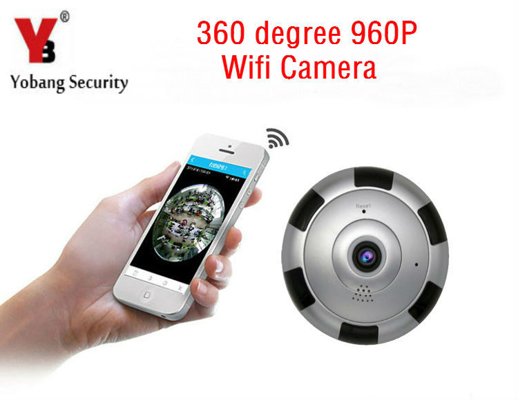 YobangSecurity 360 Degree 960P WiFi Wireless IP Camera Mini Baby Pet Monitor Home Security Surveillance Camera System TF card yobangsecurity 960p wifi wireless security camera for baby elder pet nanny monitor with night vision