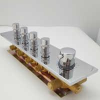 JMKWS Thermostat Shower Mixing Valve Faucet Concealed Shower Mixer 4 Way Bath Shower Diverter Brass 304 SUS Chrome Shower Cover