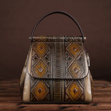 Винтажная женская ПВХ плеча Sling сумка Crossbody сумка мешок рюкзак LS-A80003