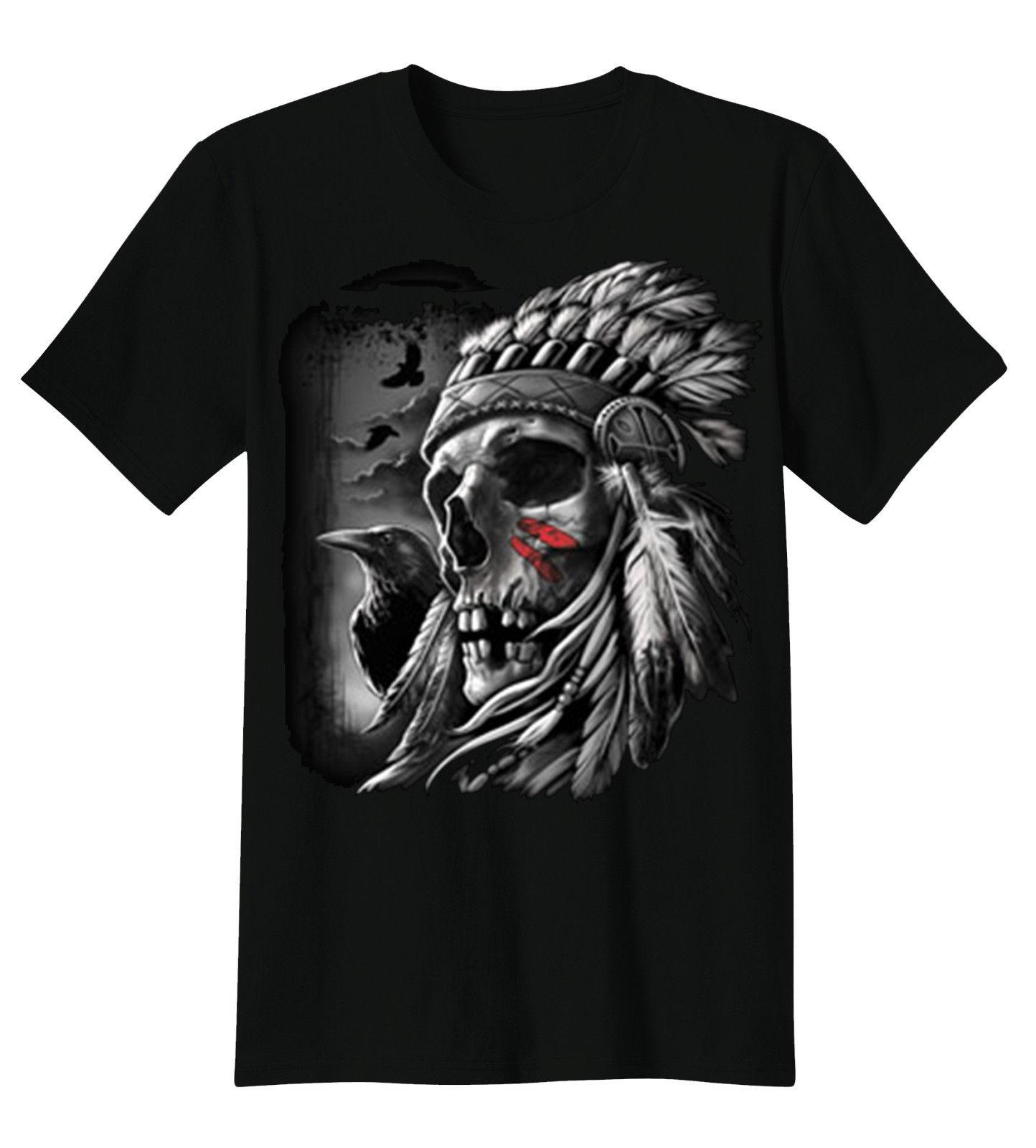 ᗐJefe Indio del nativo americano cráneo espíritu cuervos tocado ...