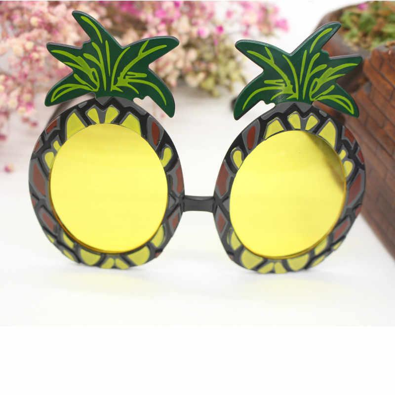 0da4c74993 ... Gafas de fiesta Hawaii novedad hawaiana playa piña gafas de sol  flamenco fiesta decoraciones boda despedida ...