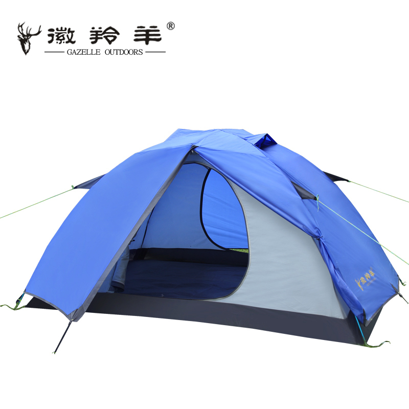 Emblem antelope outdoor tent Double Pole Double rain than wild winter camping tent camping high quality outdoor 2 person camping tent double layer aluminum rod ultralight tent with snow skirt oneroad windsnow 2 plus