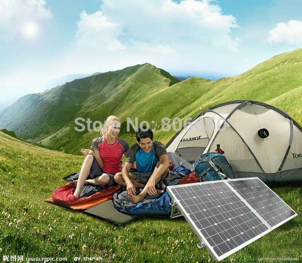 цена на 200W 2*100w mono solar panel folding portable solar module,for 12v battery , solar mono,free shipping *