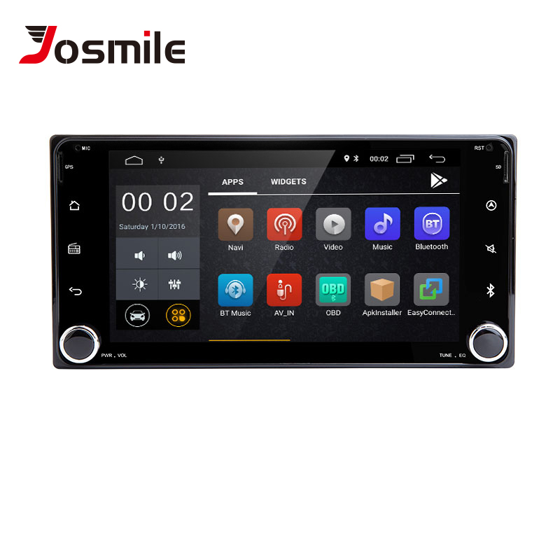 2 din Android 8.1 voiture multimédia pour Toyota Land Cruiser 100 200 Prado 120 150 ruée Corolla Hiace Yaris Hilux radio Navigation