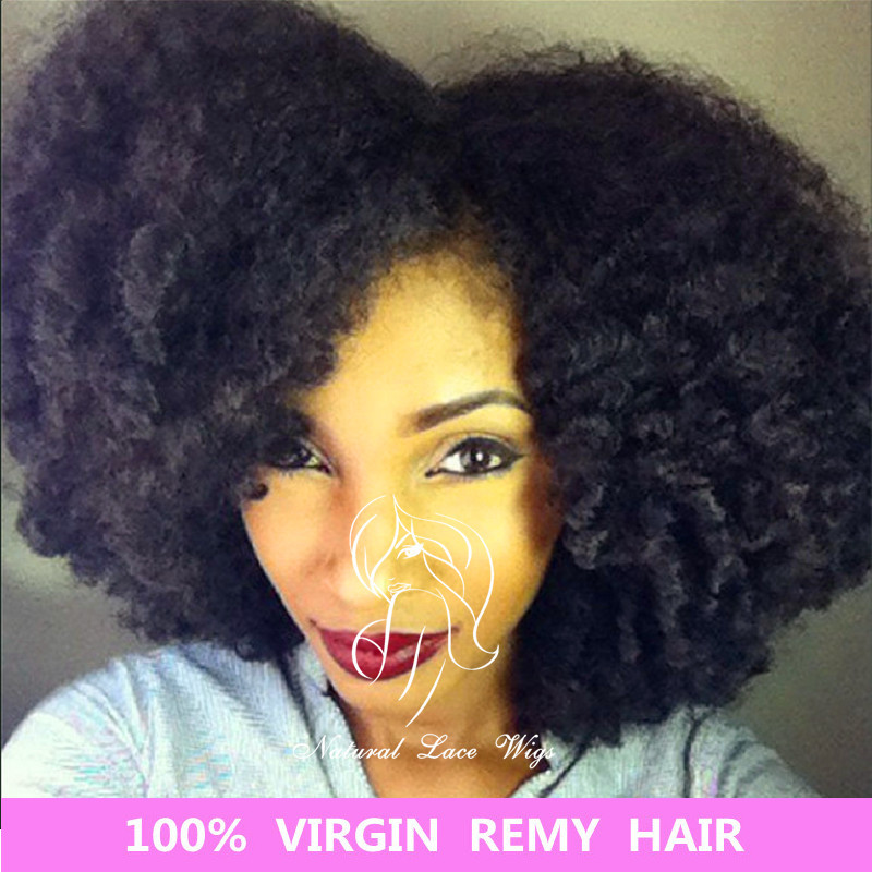 Brazilian virgin human hair wigs virgin kinky full lace wig afro curl yaki  wig short black kinky curly glueless lace front wig 42cc1e7fb6a1