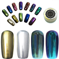 14 Gel de Color de Esmalte de Uñas Glitter silver mirror chrome polish nail powder powder uñas vtirka Espejo Cromo Pigmento AS610