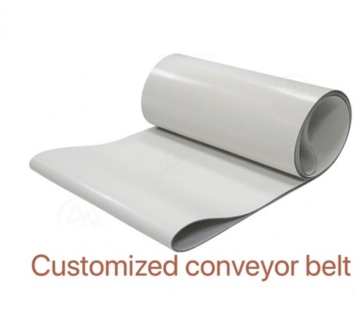 Customized)PVC White Transmission Conveyor Belt Industrial Belt customized pvc pu belt industrial heat resistant rubber belt factory conveyor belt teflon mesh strap