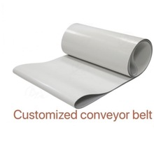 Customized)PVC White Transmission Conveyor Belt Industrial Belt high capacity movable belt conveyor pvc pu conveyor belt