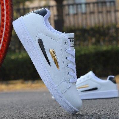 2018 yeni stil bahar yaz erkek ayakkabısı rahat moda su geçirmez ışık beyaz ayakkabı erkek ayakkabı sneakers erkekler