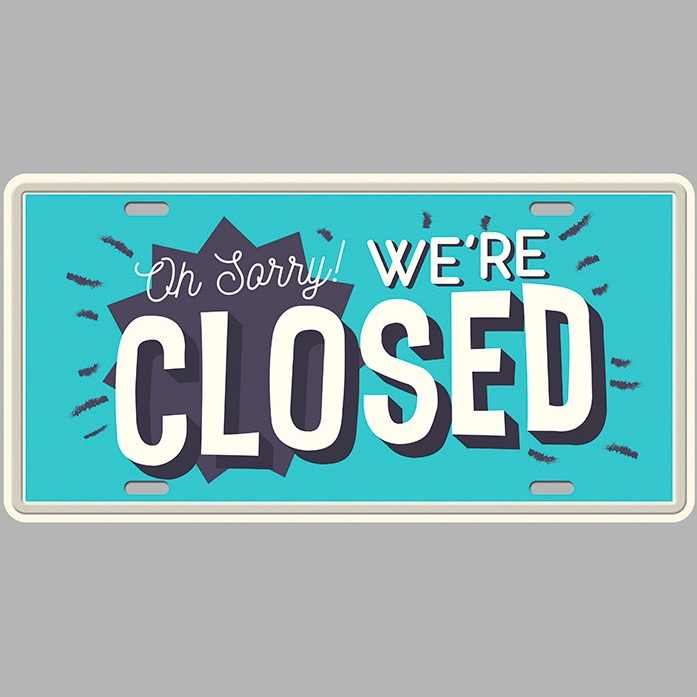 1 pc Sorry we are closed shop door plaques store coffee Tin Plate Sign wall  man cave Decoration Metal Art Vintage Poster|sign plate|store closing  signsdecorative door plates - AliExpress