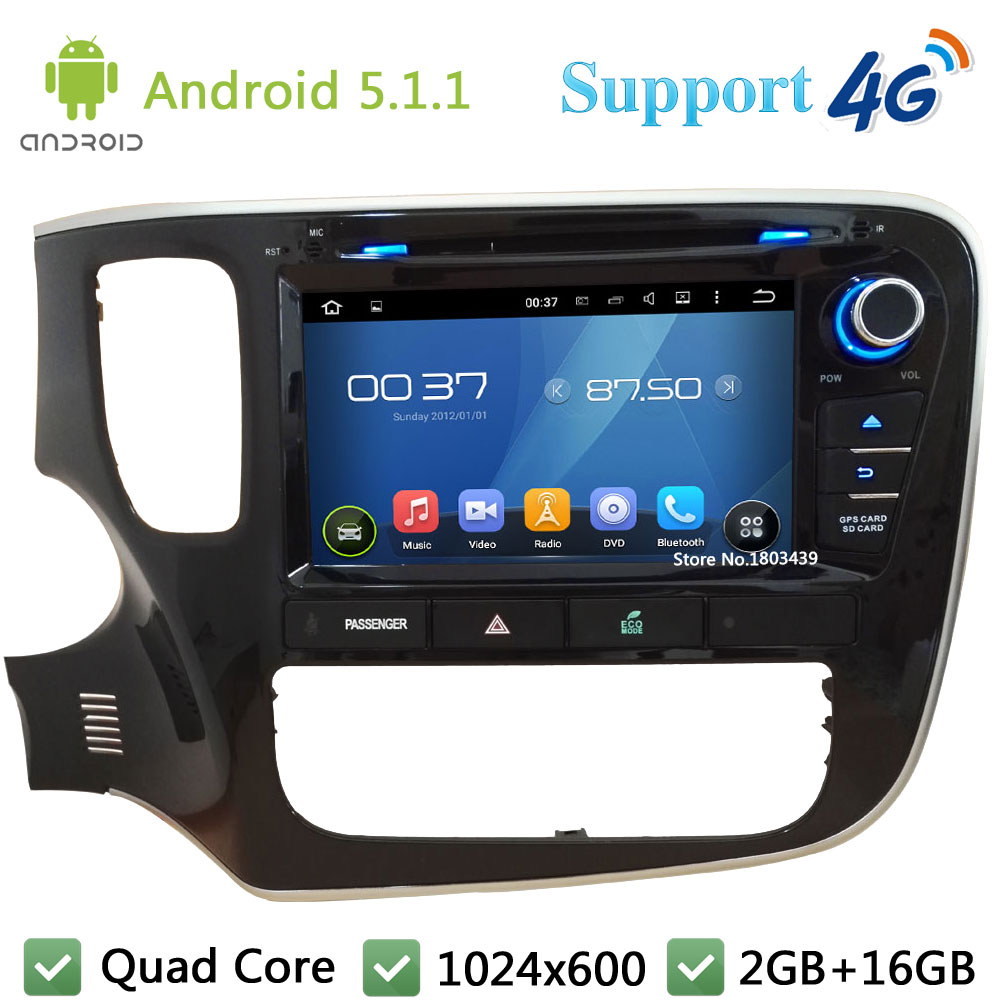 Quad Core 8″ 1024*600 Android 5.1.1 Car DVD Video Player Radio Stereo FM DAB+ 3G/4G WIFI GPS Map For Mitsubishi Outlander 2015