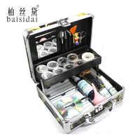 Kit completo de extensión de pestañas de ojos postizos profesional Baisidai conjunto de herramientas de pegamento con funda