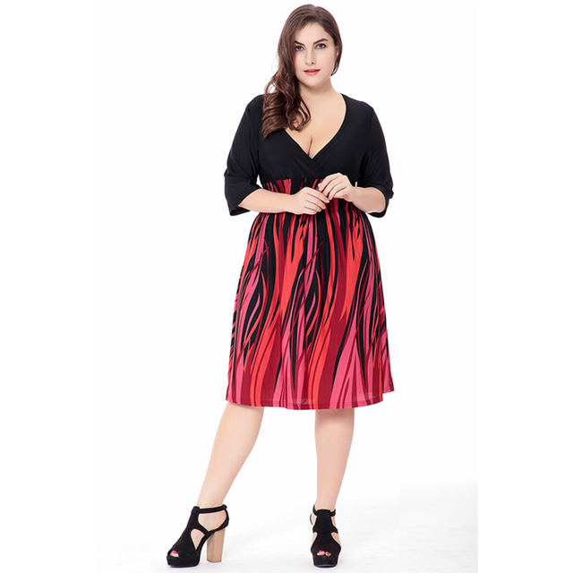 Plus size XL 6XL Women\'s short sexy dress US summer fashion large ...