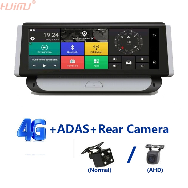 7 84 Inch 4G Car ADAS GPS Navigation DVR Android FHD 1080P Video Recorder Dash Cam